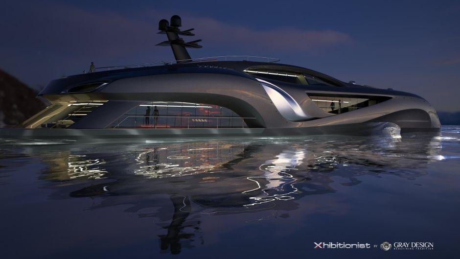 Rundgang auf der $100 Millionen+ Xhibitionist Yacht by Gray Design