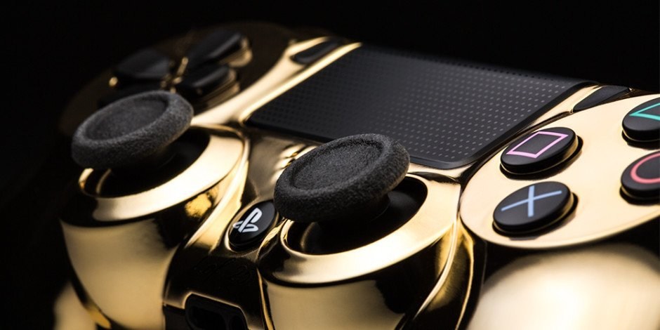 ColorWare 24 Karat Gold PS4 Controller Dual Shock 4 Gaming Gamer Konsole Playstation PS4