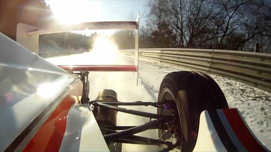 Geschlossene Schneedecke: Im Formel-Wagen mit Andy Gülden über die Nordschleife