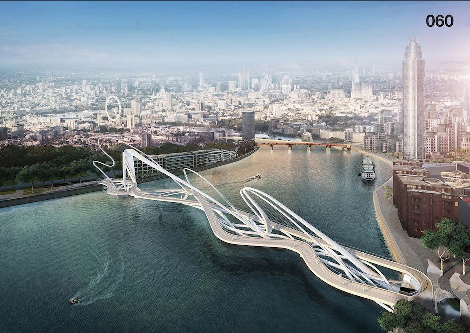 Nine Elms-Pimlico-Bridge London Konzept Architektur Design Wettbewerb