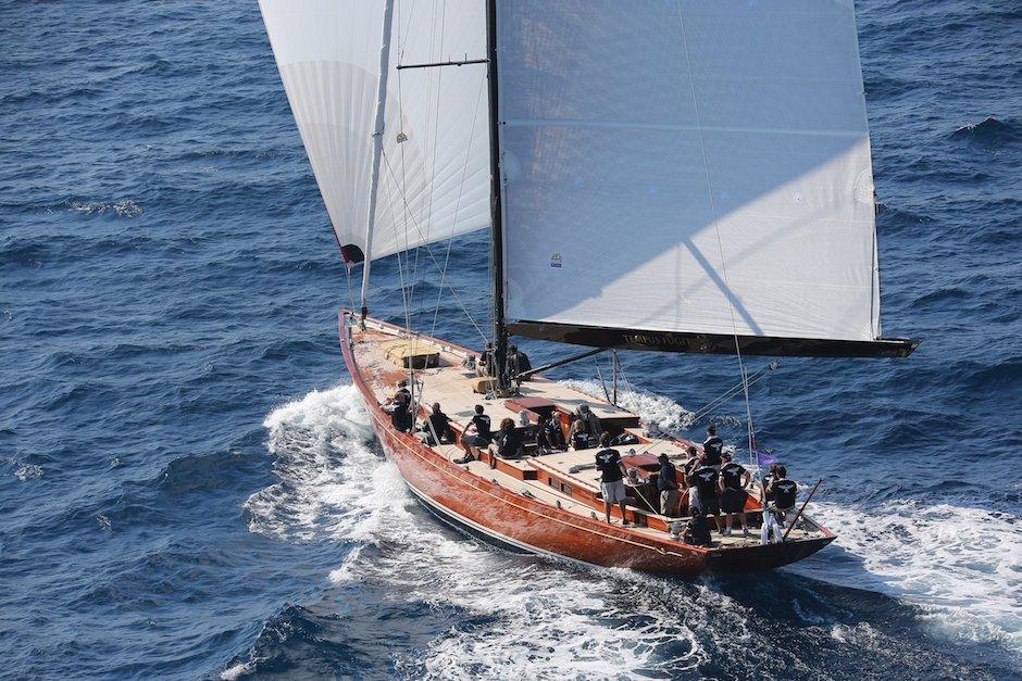 Tempus Fugit Segel Yacht Meer Holz Wind Sport Luxus