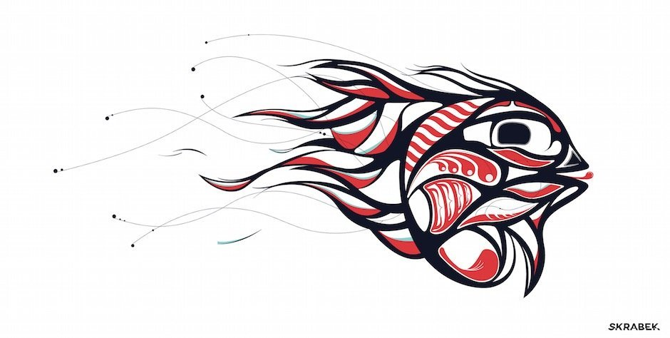 Tyler Skrabek's Digital Haida Art