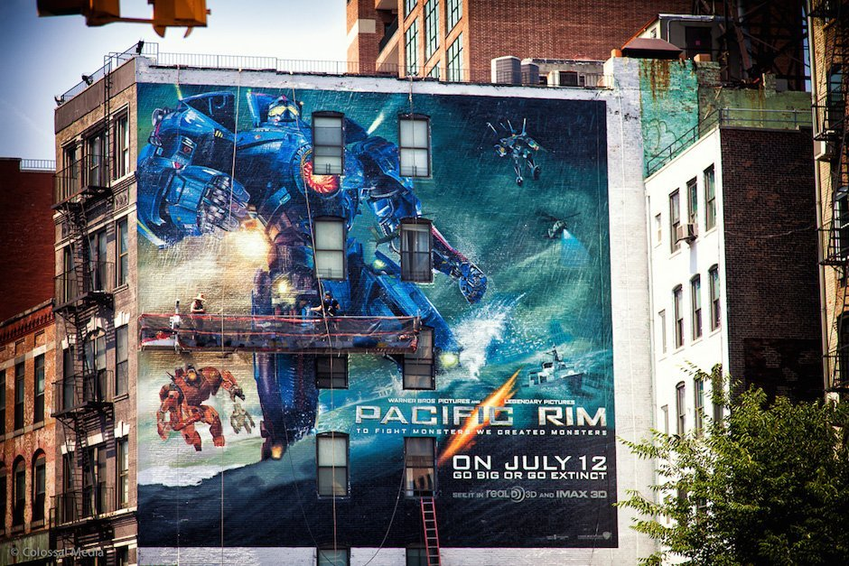 Sky High Murals Pacific Rim New York Graffiti Mural Kunst Handarbeit Wolkenkratzer USA