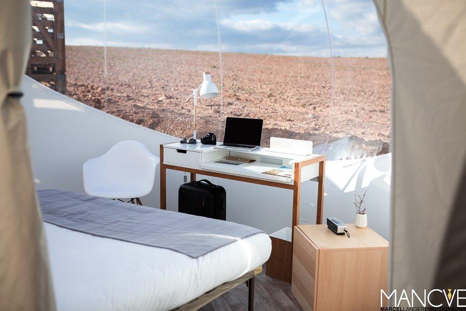 Das Hotel Aire de Bardenas schafft es in der Halbwüste von Navarra Luxus und Natur pur zu verbinden