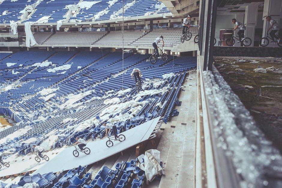 Tyler Fernengel BMX 360 Barspin SIlverdome Stadium Detroit