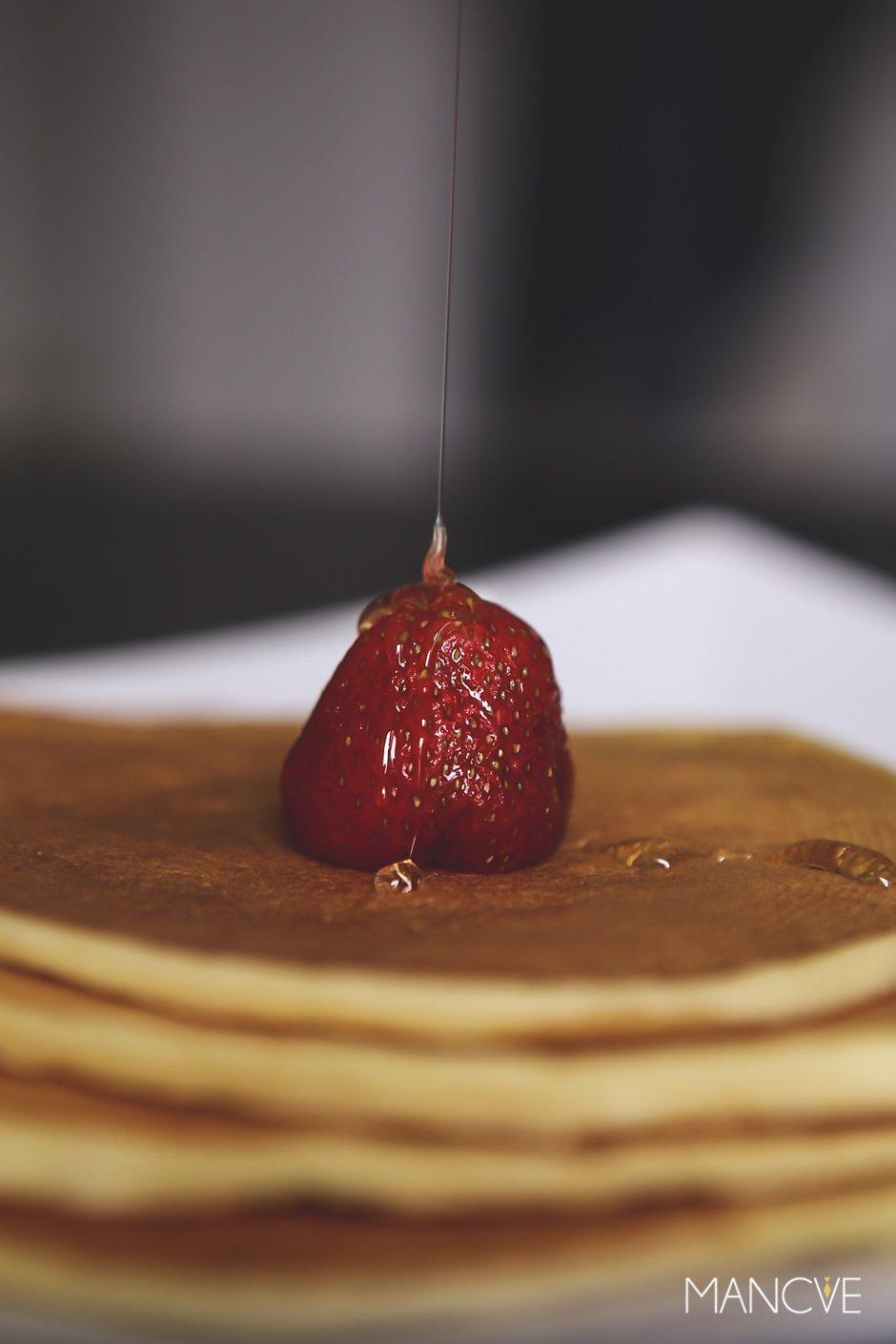 Pancake-Ahornsyrup-Detail