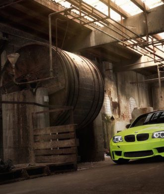 BMW 1M E82 Lightweight Tuning Irie Green Limette SchwabenFolia Jannik Holler BMW 1M Coupé