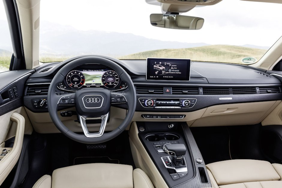 Audi A4 B9 Innenraum Cockpit Interieur Design virtual Cockpit