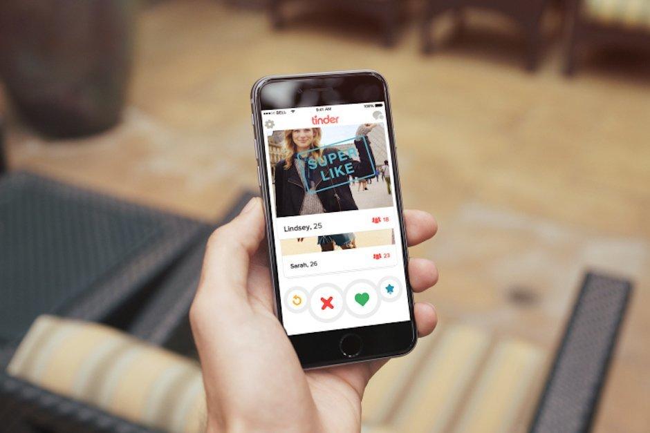 Tinder Superlike Smartphone Dating App Stuhl Hand Match Liken