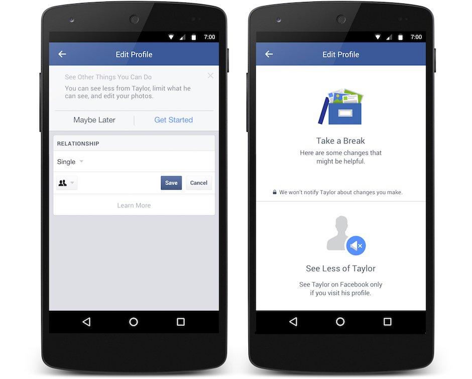 Nach der Trennung: Facebook versteckt auf Wunsch die/den Ex