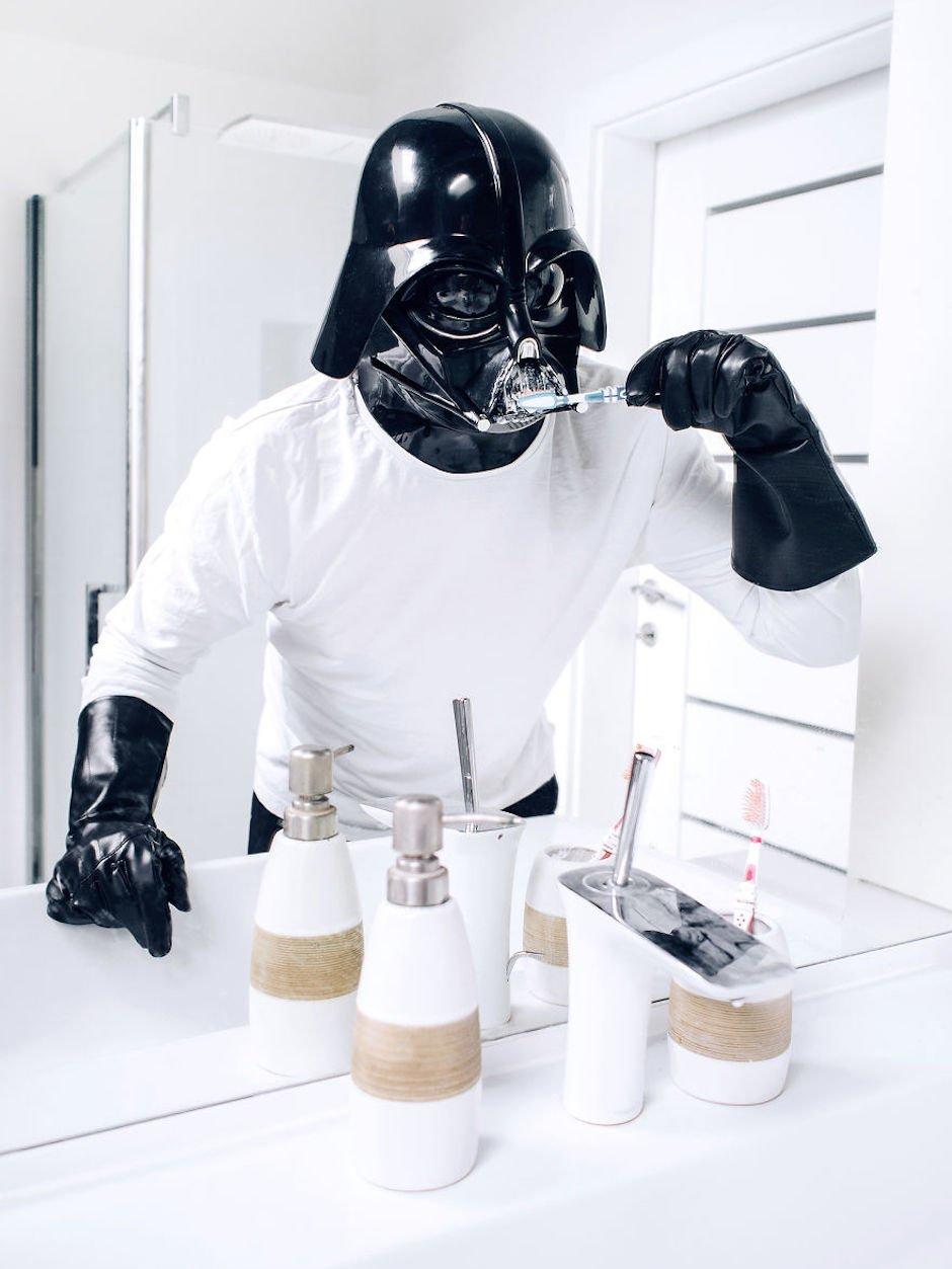 the-daily-life-of-darth-vader-pawel-kadysz-brushing-teeths
