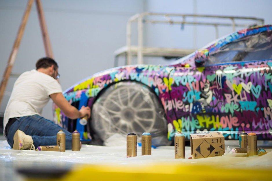 Ben Levy customizes Ferrari F430 Race Car for Art Basel Miami