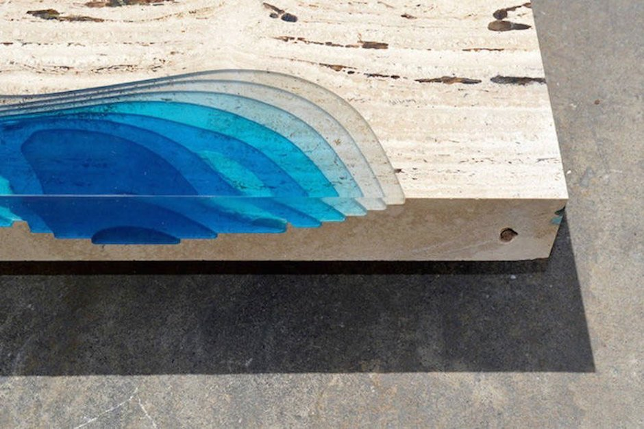 alexander chapelin lagoon-table tanslucent layers meer couchtisch