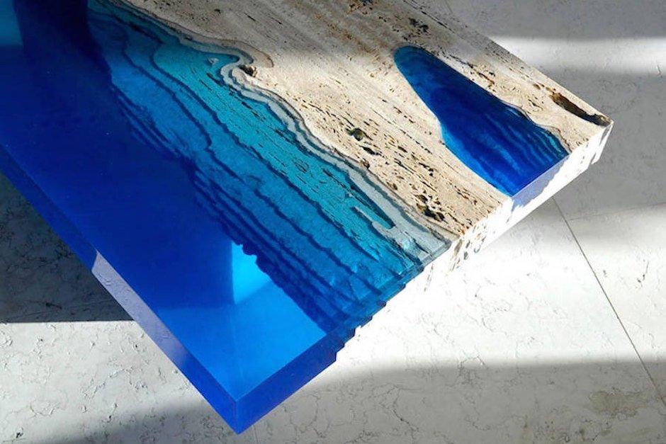 lagunen tisch detail meer ozean