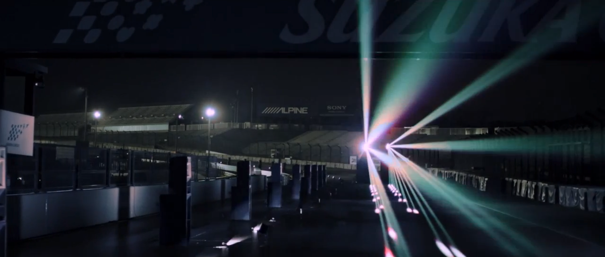 Sound of Honda: Ayrton Senna's 1989 Suzuka GP qualification lap reproduced with an haunting sound and light installation