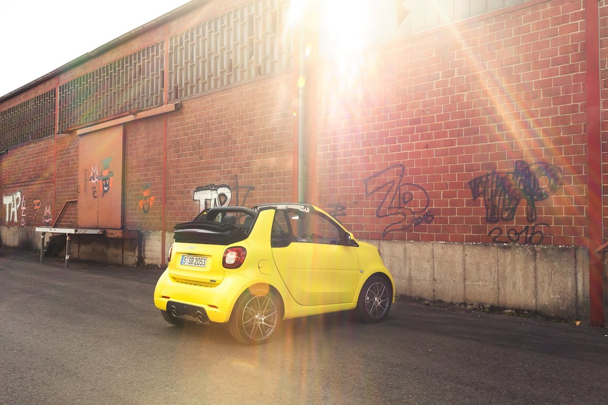smart BRABUS fortwo cabrio felgen sunset sonnenuntergang gelb