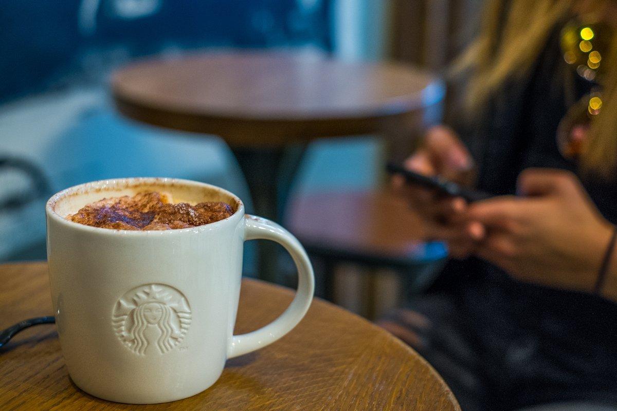 Starbucks Kaffee Coffee Copenhagen Kopenhagen Smartphone Blogger Social Media Work Arbeiten