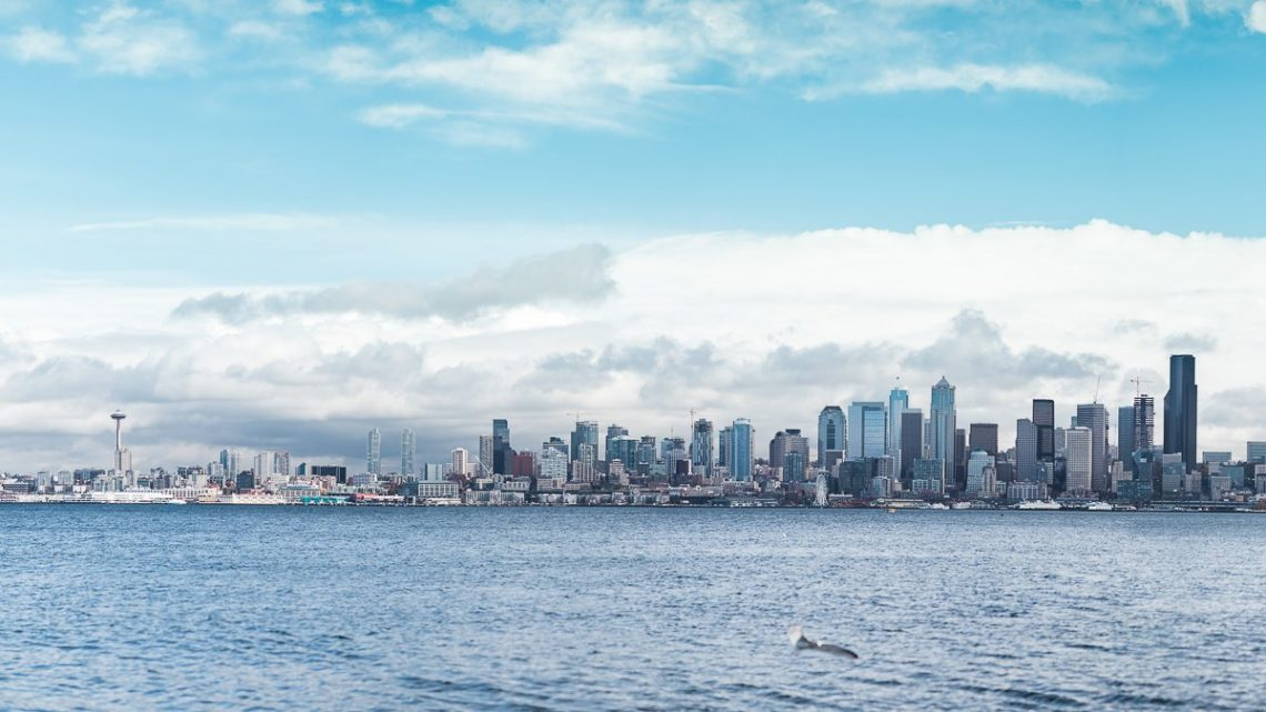 Carl Zeiss Milvus 85mm f/1.4 Canon EOS 5D Mark IV Panorama Seattle Alki Beach Meer Himmel