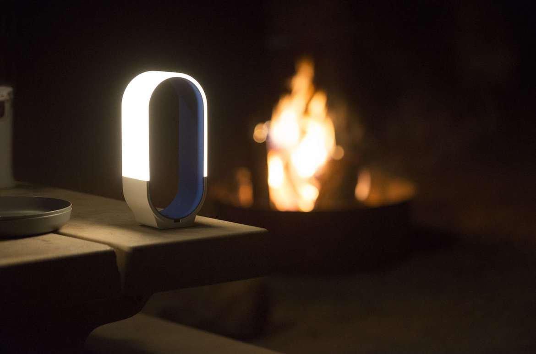 Mr. Go! LED Lantern Licht Windlicht Laterne Camping Leuchte Wandern Grillen Sommerabend Powerbank Fireplace Grillen Tisch Dunkelheit Tragbar