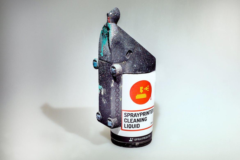 SprayPrinter Verwendung Aufsatz Spraydose DYI Einfach Easy Setup