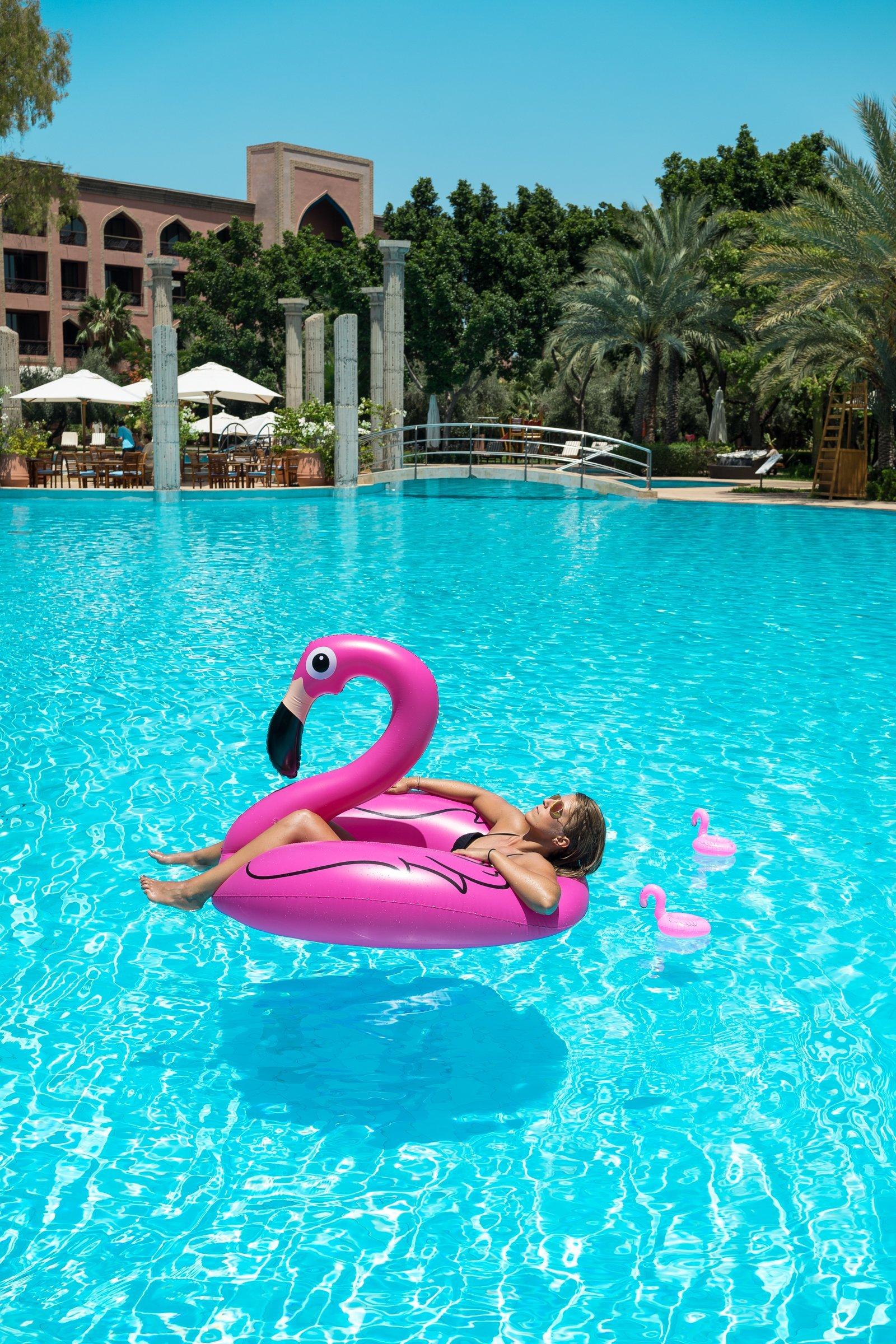 Es Saadi Palace Garden Resorts Swimmingpool Flamingo Diana Schlafen Wasser treiben lassen Hotel