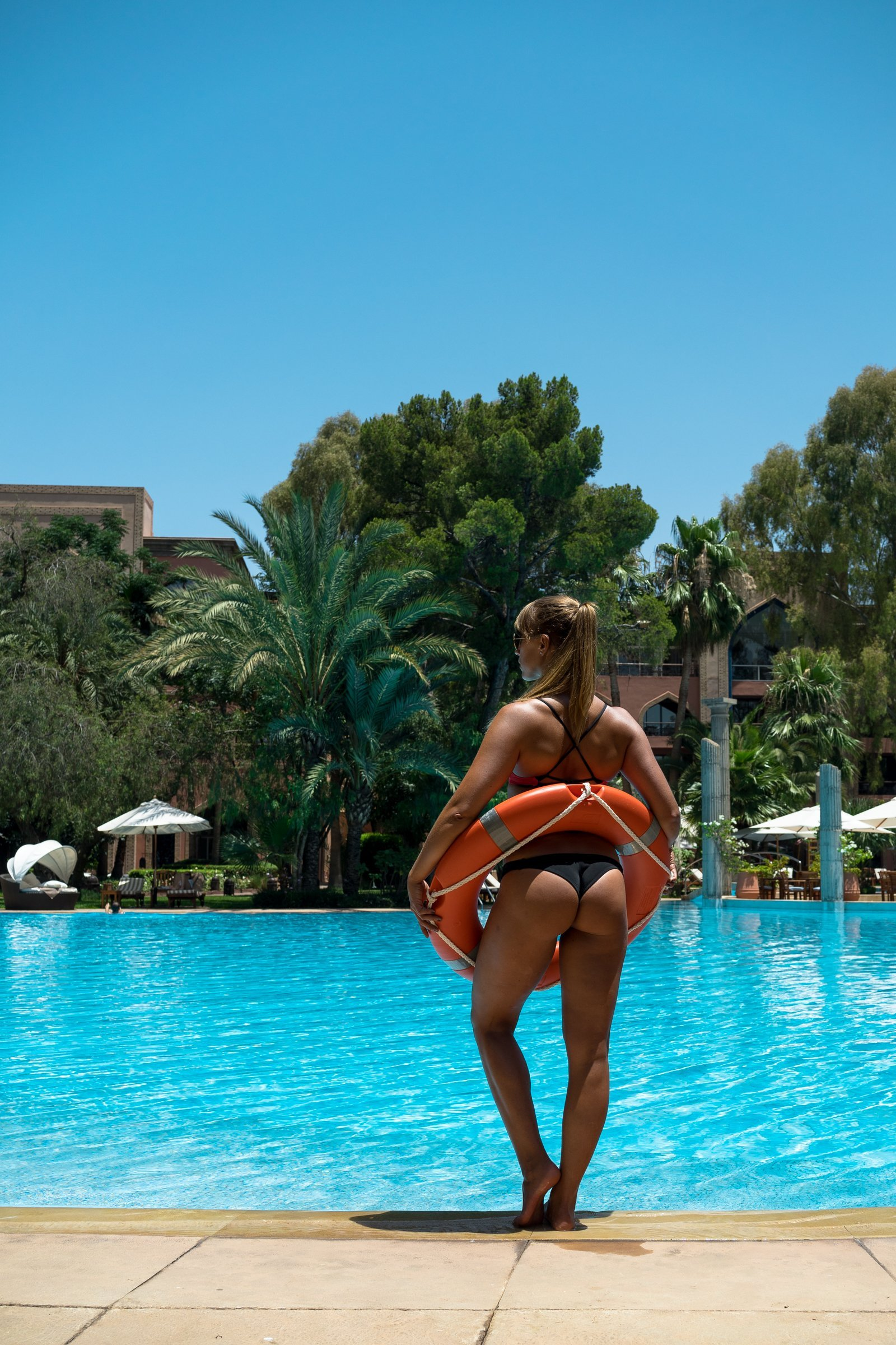 Es Saadi Palace Garden Resorts Diana Rettungsring Hintern Bubblebutt Pool