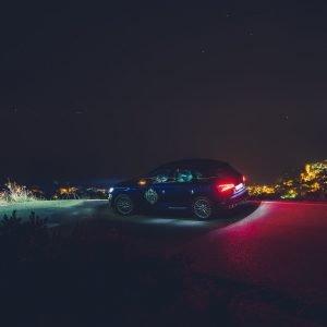 Audi SQ5 Küste Cote d' Azur Sternenhimmel Nacht Langzeitbelichtung