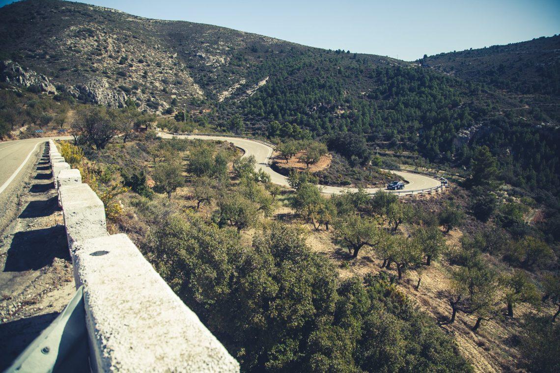 Serpentinen Landstraßen Valencia