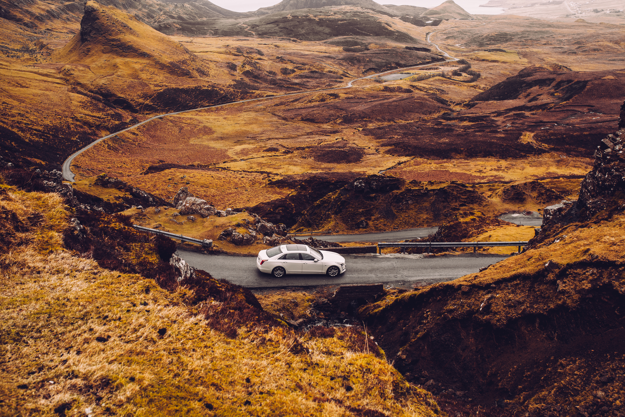 Cadillac CT6 Shooting Quiraing Schottland Roadtrip