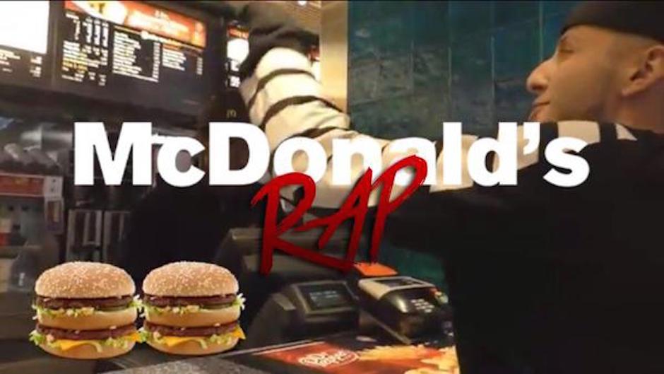 McDonalds Rap Hi Rez Rapper bestellung Big Mac Coby Persin