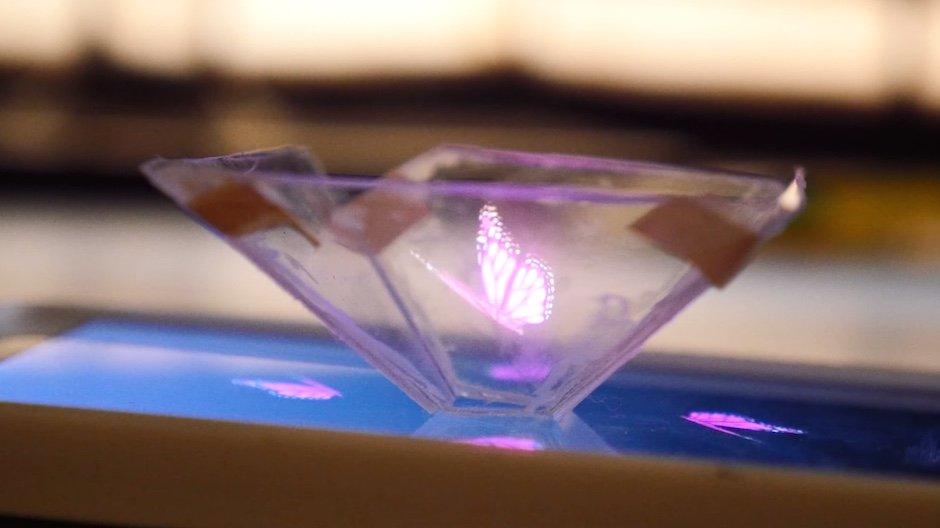 3D-Hologramm Smartphone DIY Tutorial Plastik Bildschirm