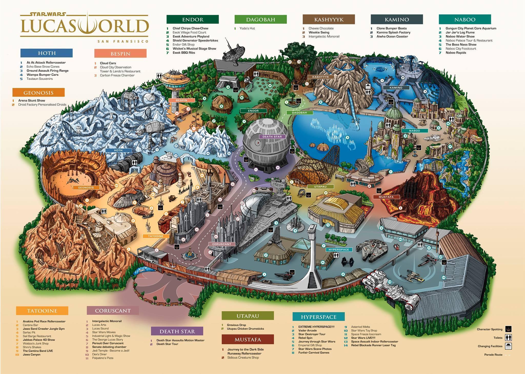Star Wars-Ressort Disney Konzept Kevin Lynch Vergnügungspark Skizze Orlando Themepark