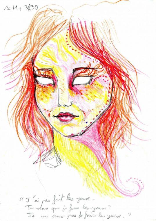 Selbstportrait LSD Einnahme US Regierung Nine Drawings Droge Wirkung