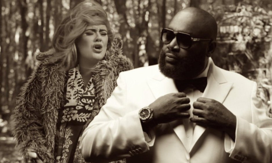 Rick Ross Adele Hello Remix Anzug Maybach Records Ricky Rubio Sonnenbrille Uhr