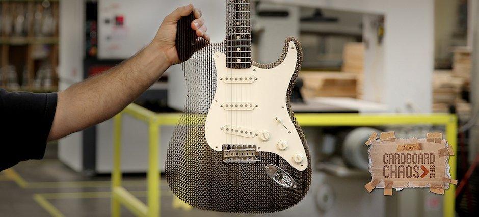 Ernest Packaging Cardboard Chaos Fender Stratocaster Linkin Park