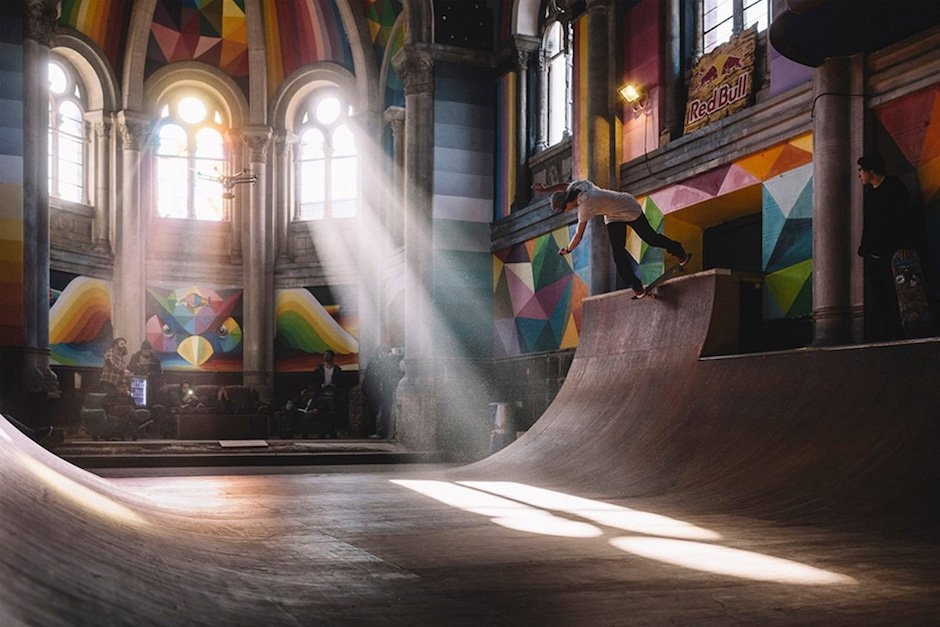 Kaos Temple Skateboard Halfpipe Kirche Spanien Red Bull