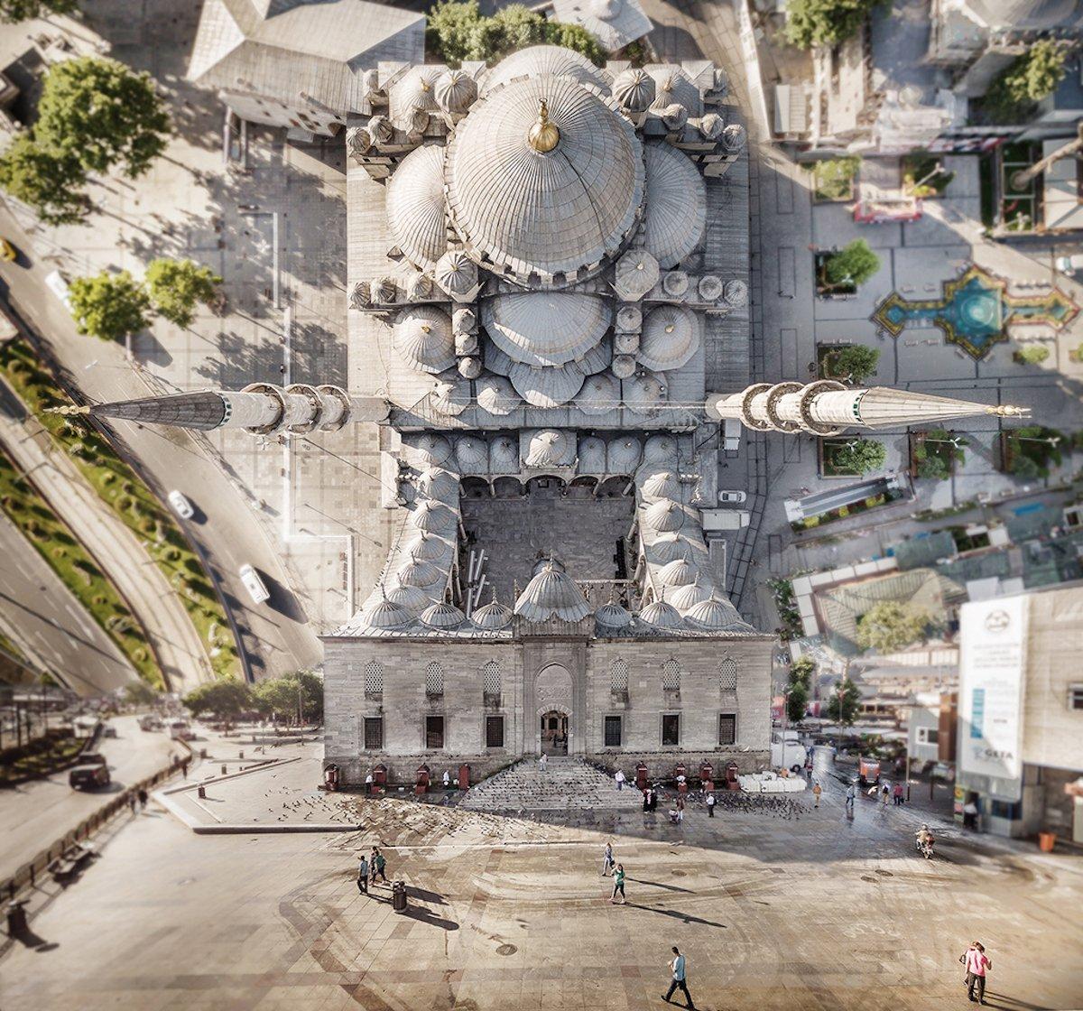 Aydın Büyüktaş Flatland Istanbul Inception Ariel Vogelperspektive umstürzende Welten Perspektive Landschaft