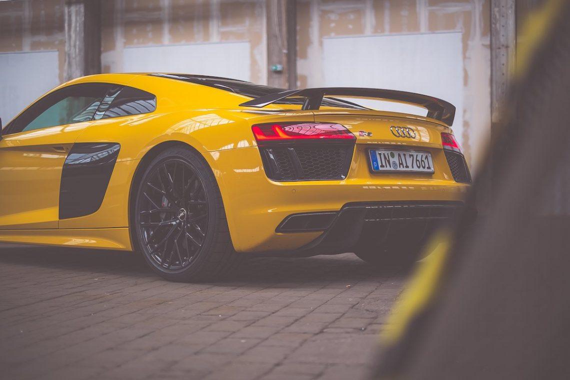 Audi R8 V10 plus Carbon Heckspoiler Vegasgelb Vegas gelb Vegas yellow