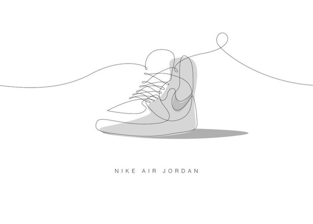 One Line Illustration Nike Air Jordan Kunst