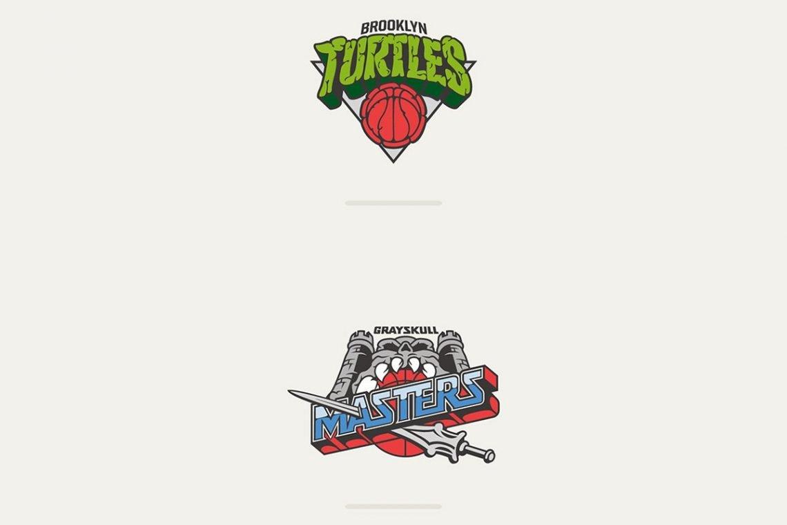 NBA Cartoon Mashup Vanilla Lab Brookyln Nets Cavaliers Ninja Turtles