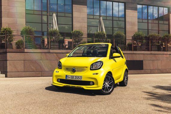 smart brabus fortwo cabrio 453 atomic yellow frontspoiler bumper splitter profil