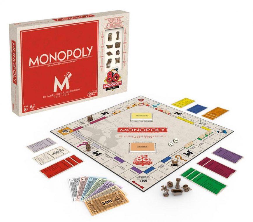 Hasbro Monopoly Hotline 80 Jahre Jubiläums Edition Spielbrett Brettspiel Boardgame Special Edition Weihnachten Geschenk
