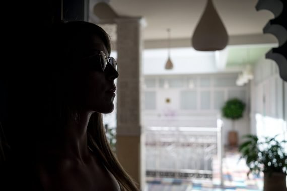 riad karmela princesse hallway woman silhouette