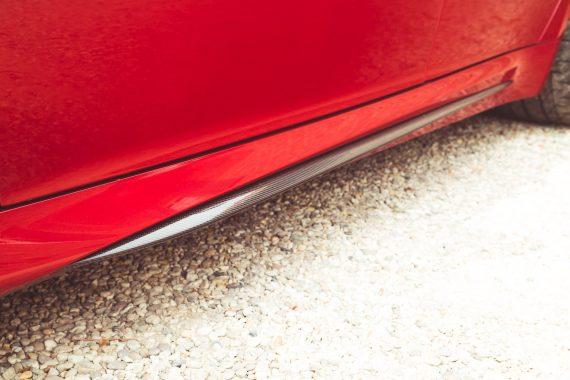 Alfa Romeo Giulia Quadrifoglio rot Carbon Seitenschweller