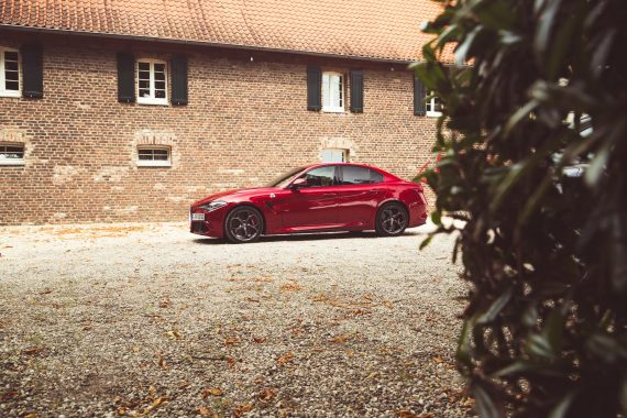 Alfa Romeo Giulia Quadrifoglio rot Profil