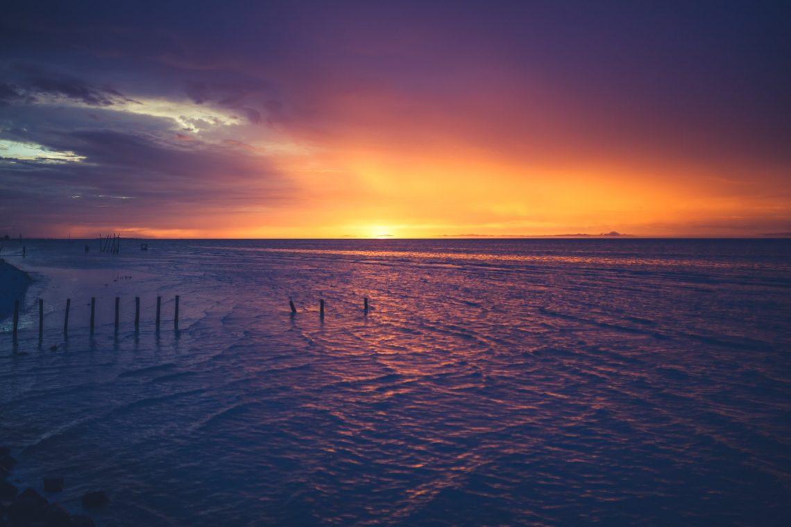 Sonnenuntergang am Meer in Holbox