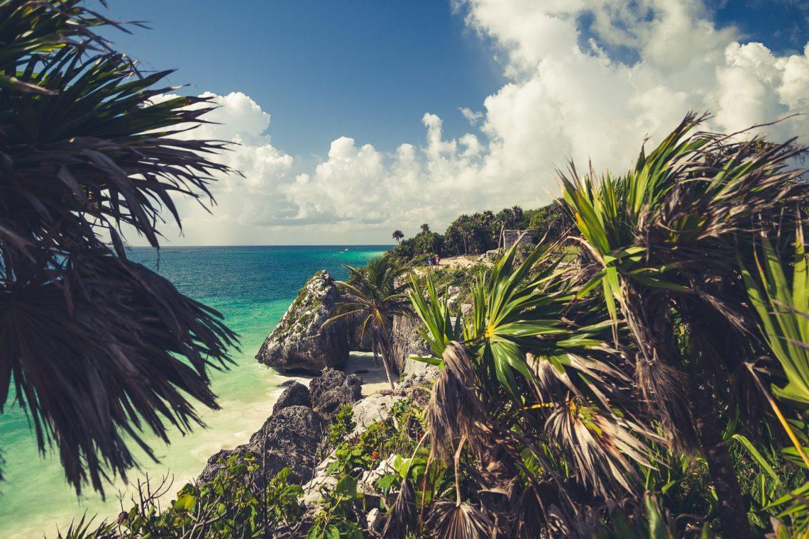 Tulum Ruinen am Karibischen Meer