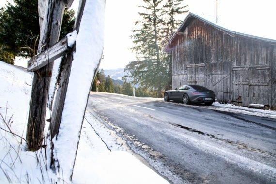 Schnee Zaun Berghütte Haus Auto Tanne