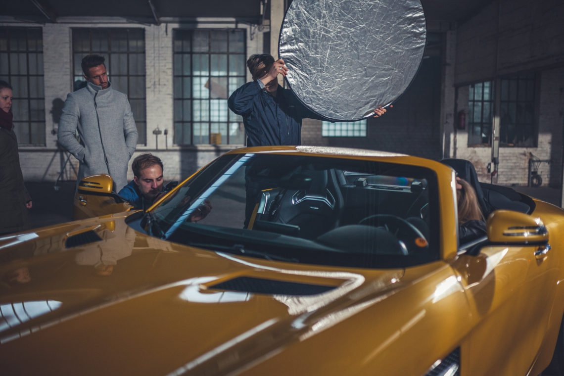 Behind the Scenes Mercedes Foto Shoot