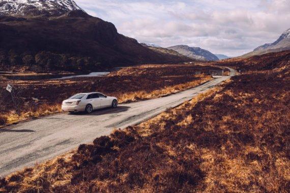 Landschaft Schottland Straße Limousine